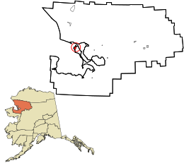 Northwest_Arctic_Borough_Alaska_incorporated_and_unincorporated_areas_Kotzebue_highlighted.svg